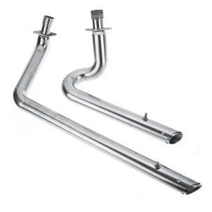Exhaust Muffler Pipe Silencer Kit For Honda Shadow VT600 VLX600 VT400 Silver