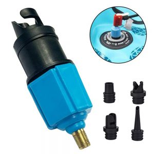 1 Set Inflatable Pump Adaptor SUP Air Valve Adapter For Surf Paddle Board Dinghy Canoe Inflatable Boat Tire Converter 4 Nozzle