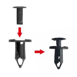 100Pcs Bumper Plastic Trim Clip Push Retainer Fastener For Holden Commodore VE VF