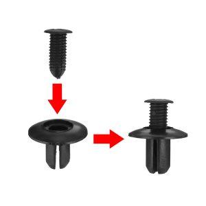 100PCS Plastic Trim Clip Push Retainer Rivets Fastener For Holden Commodore VE
