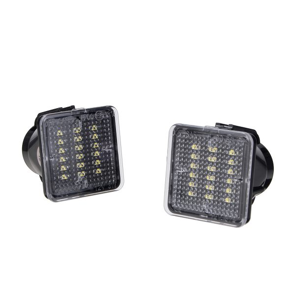 1 Pair Full LED Black Lights License Plate Lamps For Toyota 2016-2019 Tacoma 2014-2019 Tundra