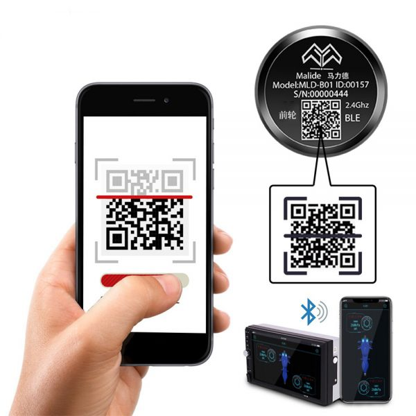 bluetooth APP Tire Pressure Monitor Motorcycle Wireless High Precision Motor Tire Pressure Sensor for Electric Vehicles