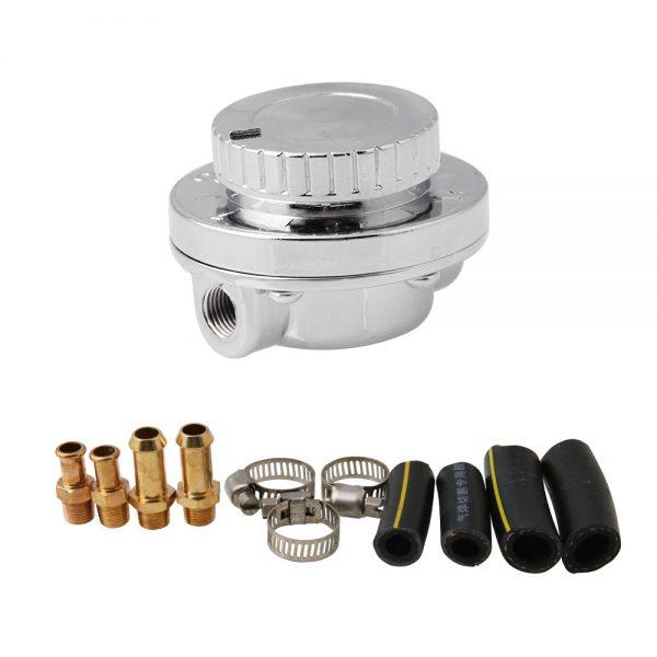 Fuel Pressure Regulator Kit Adjustable Universal For Carburetor Engine