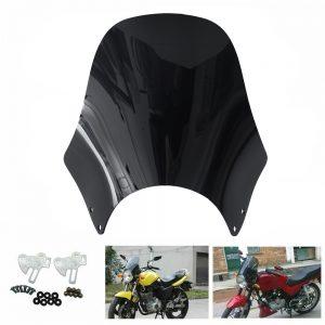 Motorcycle Round Headlight Windshield Windscreen For Honda/Kawasaki/Yamaha/Suzuki