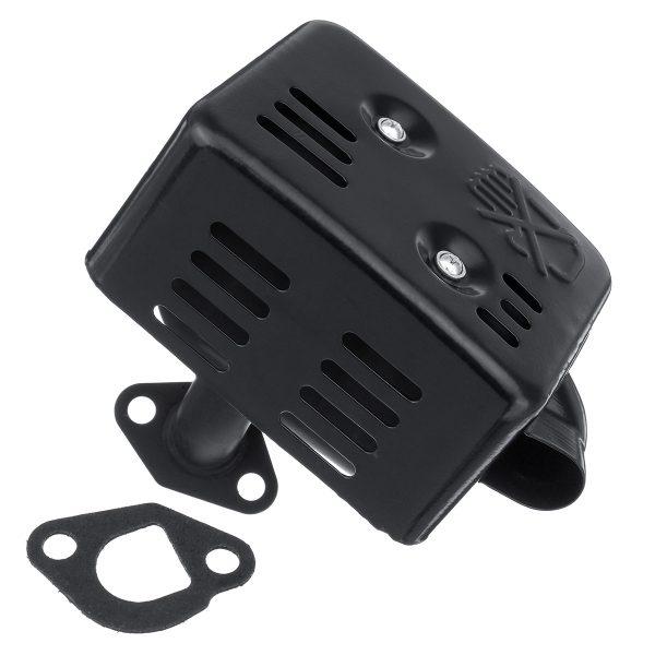 Exhaust Muffler Silencer With Heat Shield Gasket For HONDA GX110 GX120 GX140 GX200