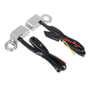 2Pcs 12V Motorcycle Mini LED Lamp Turn Signal Amber Light E Mark For Harley