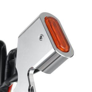 2Pcs Motorcycle Amber LED Mini Turn Signal Indicator Running Light Lamp For Harley