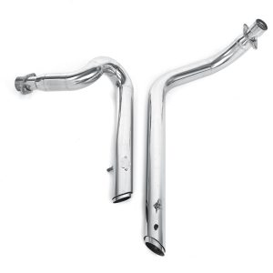 Silver Double Pipes Full Exhaust System + Silencer For Honda STEED VLX400 VLX600