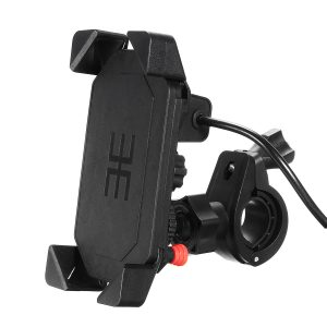 Universal Motorcycle Bike Handlebar Mount Holder USB Charger For 3.5-6inch Cell Phone GPS