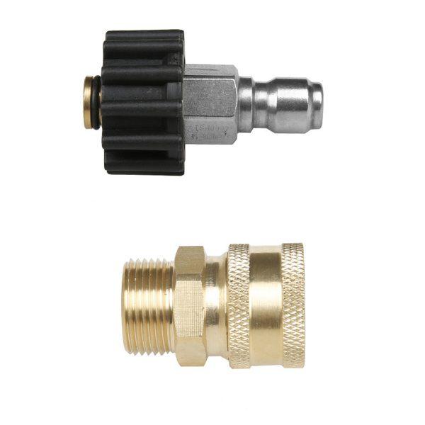 "3/8"" Blitz Detailing M22 Adapter Quick Connect Karcher Kranzle Release Steel"