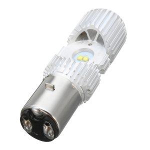 BA20D 1200LM 6000K 4 LED Scooter Hi/Lo Motorbike Moped ATV Headlight Fog Lamp Bulb