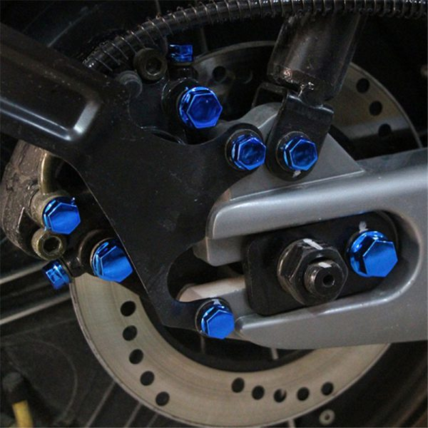 10PCS Screws Set Motorcycle Fairing Windshield Body Modification Bolt Set