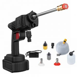 24V 600W 20000mAh High Power Washing Guns Wireless Rechargeable Washer High-pressure Water Pump With Battery For Car Motorcycle