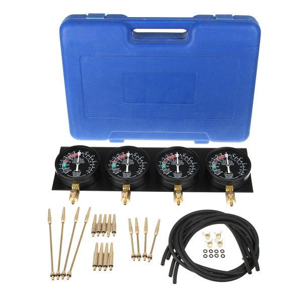 Motorcycle Carb Carburetor Vacuum Synchronizer Sync 4 Gauges Balancer Meter Kit