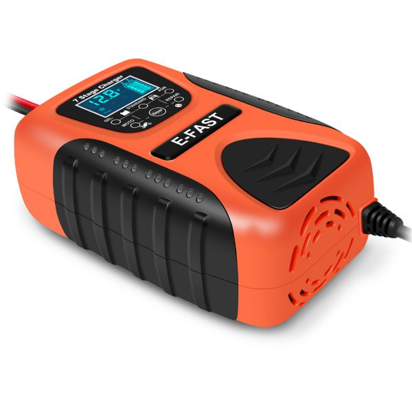 E-FAST 12V 7A Pulse Repair LCD Battery Charger For Car Motorcycle Lead Acid Battery Agm Gel Wet