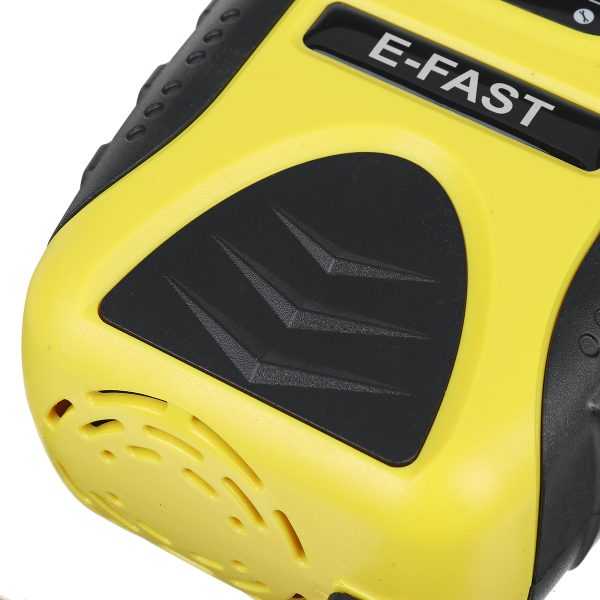 E-FAST 12V 7A Pulse 7 Stage Repair LCD Battery Charger Yellow For Car Motorcycle Lead Acid Battery Agm Gel Wet