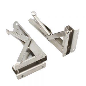 2pcs Stainless Steel Folding Stand Table Bracket Shelf Bench 200kg Load Heavy bracket for Wall Shelf Bracket
