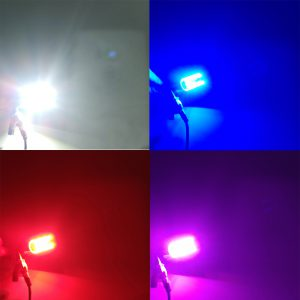 DC 12-36V BA20D RGB Motorcycle Headlight LED Headlamp for Kawasaki for Yamaha