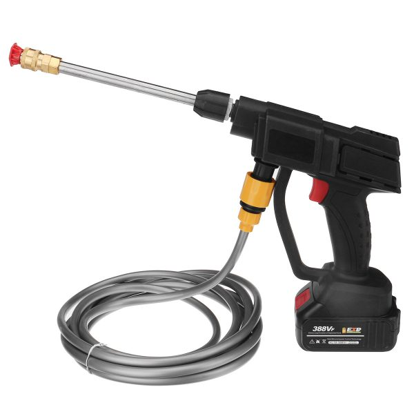 600W Portable Cordless Electric Pressure Washer Jet Wash Car Cleaner with Battery
