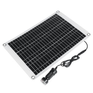 100W 12V ETFE Solar Panel Kit Phone Car Battery Charger System For Home Outdoor Camping