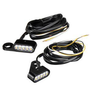 Motorcycle Handlebar 10 LED Mini Turn Signal Indicator Running Light For Harley/Sportster XL 48 72 1200 883
