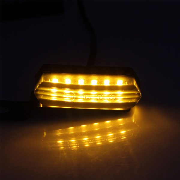 2PCS Motorcycle Turn Signal Lights Running Water Style LED Signal Lamp Dynamic Streamer Flashing