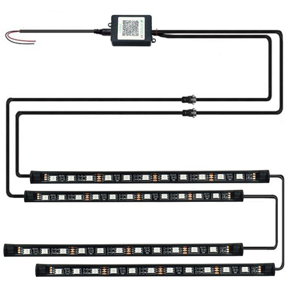 RGB LED Underbody Neon Light Strip Chassis Atmosphere Lamp Light APP Control