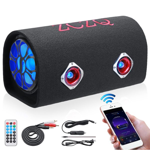 """8 480W Powered Active Car Audio Subwoofer Bass Tube bluetooth Speaker LED"""""""