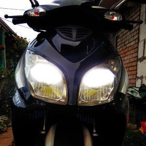 H4 30W 3200LM 6000K IP67 Hi/Lo Beam CSP Motorcycle Headlight LED Bulb Motorbike Headlamp 360 Degrees Waterproof Replace Bulbs