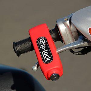 Grip-Lock Original Motorcycle Handlebar Lock Brake Throttle Grip Anti Theft Security Lock for Scooter ATV Dirt Bike Handle Bar Universal