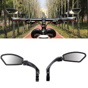 Right / Left Rearview Mirror Reflector Handle Bar Mounting Universal For E-Bike Bicycle Motorcycle Scooter