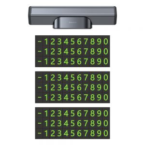 Baseus Temporary Parking Number Plate Car Plate Telephone Number Plate Card Park Car-styling Automobile Accessories