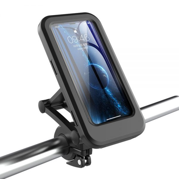 4-6.5inch Bike Phone Holder Adjustable Waterproof Motorcycle Case Stand Bicycle Handle Phone Mount Cell Phone Support Mount Bracket