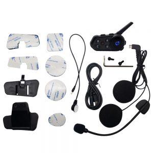 S6 1200M 800mAh Motorcycle Helmet bluetooth Intercom Music Player Wireless Waterproof Communicator Intercom Headphones for 6 Riders Motorbike Handsfree Headset