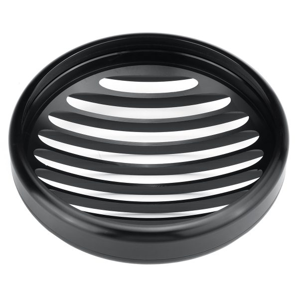 5.75 inch Headlight Cover Light Grill Guard Black Universal For Cafe Racer Chopper