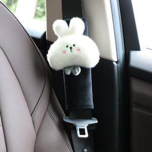 Cartoon Cute Lovely Rabbit Car Neck Pillow Head Pillow Plush Cervical Spine Pillow Car Seat Back Pillow
