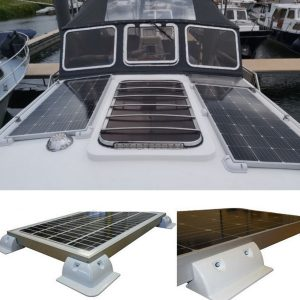 4pcs Solar Panel Side Corner Bracket Cable Gland Entry for RV Motorhome Caravan Yacht Boat Vehicle Roof Mount