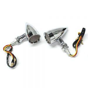 2PCS 12V 15 LED Red Light Motorcycle Turn Signal Lights Universal Aluminum Alloy