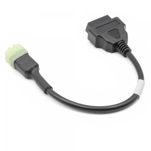 6 Pin OBD Connector Diagnostic Cable Adaptor Motorcycle Accessory For Kawasaki