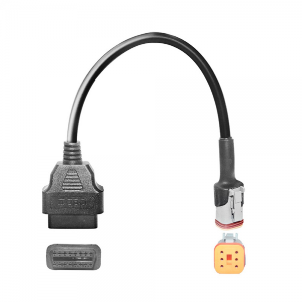 6 Pin OBD Connector Diagnostic Cable Adaptor Motorcycle Accessory For HarIey Davidson