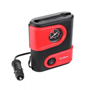 Andew 12V 100PSI 100W Portable Tire Inflator Electric Air Compressor Pump with Gauge for Car SUV Bicycle Motorcycle