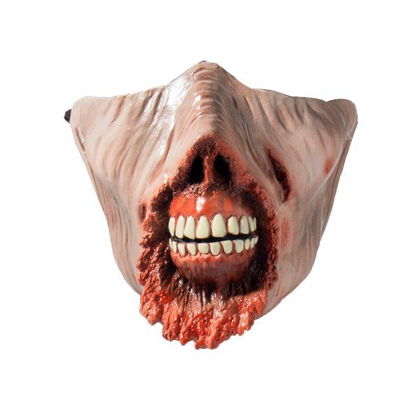 Halloween Carnival Half-face Corpse Walking Dead Zombie Skull Cosplay Horror Latex Mask