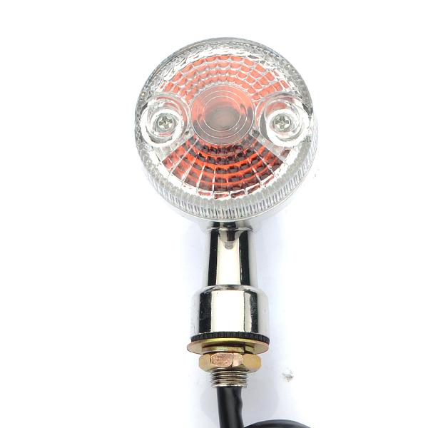 Universal Front Rear Motorcycle Turn Signals Indicators Amber Lights Lamp
