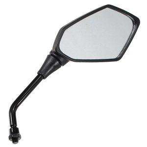 10mm Universal Diamond Motorcycle Black Rear View Mirror