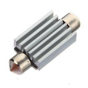12V 2mm 8 SMD 5050 LED Pure White Canbus Festoon Dome Roof Light Bulb