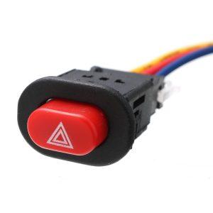Auto Car Motorcycle Double Flash Turn Hazard Light Switch