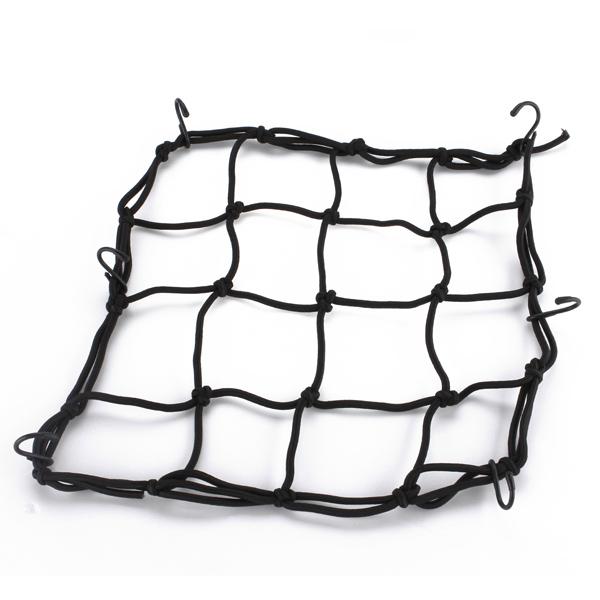 Motorcycle Helmet Cargo Luggage Bungie Mesh Web Net Black