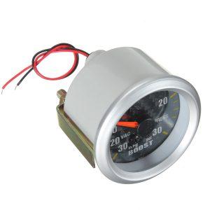 Carbon Fiber Face Mechanical Boost Vacuum Gauge Autometer 2