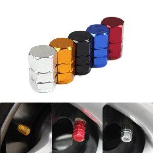 4pcs Car Tires Cap Aluminum Wheel Valves Tyre Stem