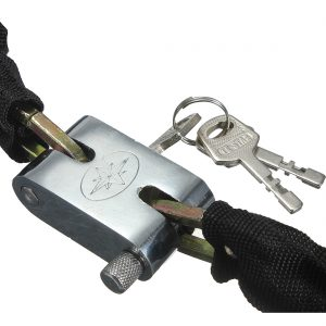 85cm Metal Chain Safety Lock Padlock For Mountain Road Bike Motorcycle Scooter